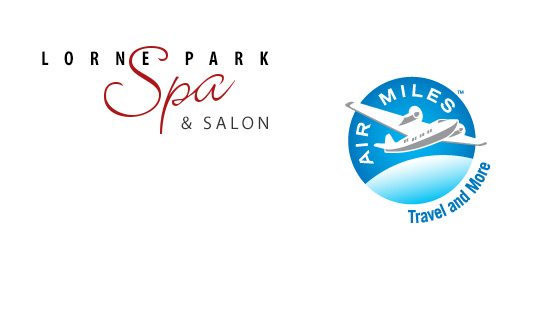 Collect Air Miles reward miles at Lorne Park Spa and Salon